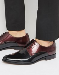 Ted Baker Aundre Patent Derby Shoes Black Red