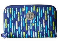 Vera Bradley Turn Lock Wallet Katalina Showers Wallet Handbags Blue