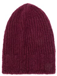 Danielapi Ribbed Beanie Red