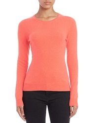 Lord And Taylor Basic Crewneck Cashmere Sweater Camellia