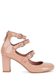 Tabitha Simmons Ginger Blush Patent Leather Pumps Nude