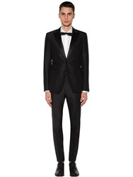 Dsquared London Silk Satin And Wool Tuxedo Black