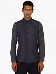 Paul Smith Navy Cotton Pinstripe Shirt