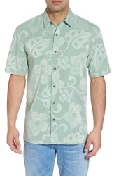 Kahala Kalawai Relaxed Fit Camp Shirt Green