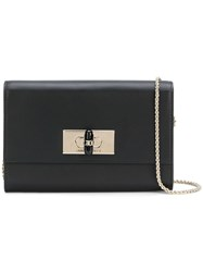 Giorgio Armani Logo Chain Shoulder Bag Black