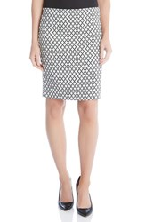 Karen Kane Women's Diamond Print Pencil Skirt