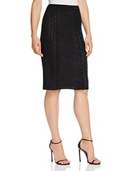 B Collection By Bobeau Tanner Faux Suede Pencil Skirt Black