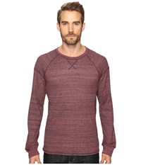 Alternative Apparel Eco Space Dye Thermal Onboard Crew Neck Currant Space Dye Men's Clothing Burgundy