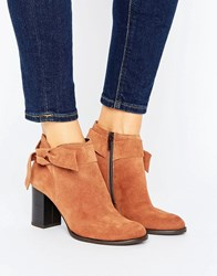 Vero Moda Suede Bow Heel Boot Adobe Red