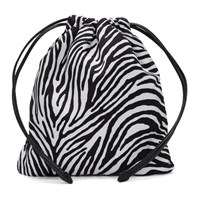 Miu Miu Black And White Zebra Printed Faille Pouch