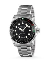 Gucci Dive Stainless Steel Bracelet Watch Silver Black