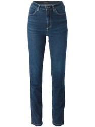 Versace Vintage High Waisted Jeans Blue