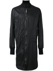 Isaac Sellam Experience Long Bomber Jacket Black