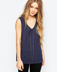 B.Young Sleeveless Top With Embroidered Detail Parisian Night