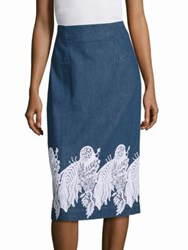 Creatures Of The Wind Suomi Embroidered Skirt Denim