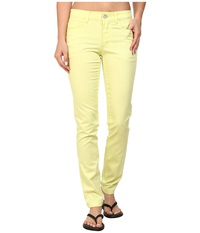 Black Diamond Stretch Font Pants Lemon Women's Casual Pants Yellow