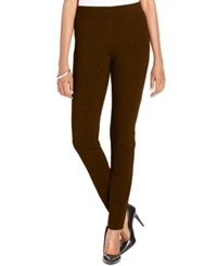 Styleandco. Style Co. Petite Stretch Ponte Leggings Only At Macy's Rich Truffle