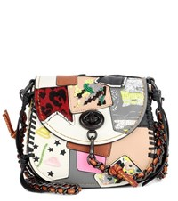 Coach Crossbody Saddle 17 Leather Shoulder Bag Multicoloured
