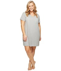 Nautica Plus Size Sleepshirt Heather Grey Women's Pajama Gray