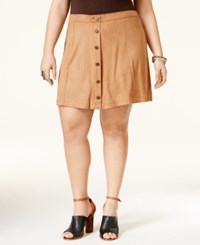 American Rag Plus Size Faux Suede A Line Skirt Only At Macy's Camel