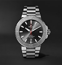 Oris Aquis Date Relief Automatic 43.5Mm Stainless Steel Watch Gray