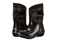 Bogs Plimsoll Plaid Mid Black Women's Cold Weather Boots