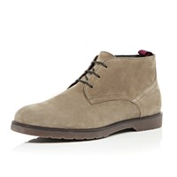 River Island Mens Brown Suede Chunky Chukka Boots