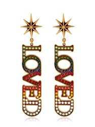 Gucci Loved Crystal Clip On Earrings
