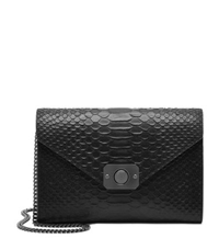 Mulberry Delphie Snake Embossed Clutch