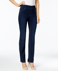 Charter Club Cambridge Pull On Slim Leg Jeans Only At Macy's Greenwich Wash