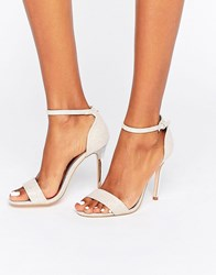 True Decadence Pink Glitter Barely There Heeled Sandals Pink Glitter