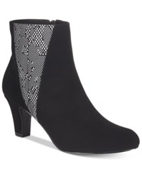Easy Street Shoes Endear Booties Women's Black White
