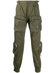 Represent Zipped Pocket Trousers Green