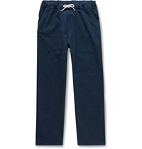 Albam Tapered Cotton Ripstop Drawstring Trousers Blue