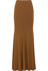 Donna Karan Stretch Jersey Maxi Skirt Brown