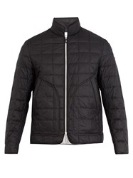 Moncler Gamme Bleu Square Quilted Down Padded Jacket Black