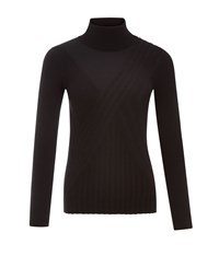 Austin Reed Black Rib Roll Neck