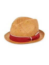 Paul Smith Pandan Straw Hat Brown Red Blue Green