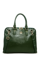 Jean Louis Scherrer Vegan Leather Briefcase Green