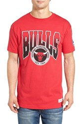 Mitchell And Ness Men's Bulls Graphic T Shirt