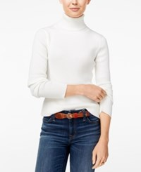 Tommy Hilfiger Ribbed Turtleneck Sweater Snow White