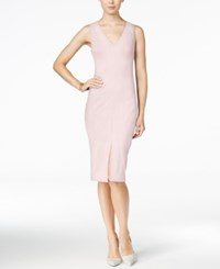 Bar Iii V Neck Sheath Dress Only At Macy's Ballet Pink