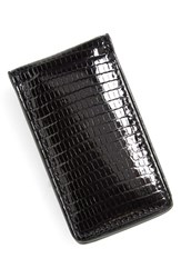 Men's Boconi Lizard Magnetic Money Clip Black