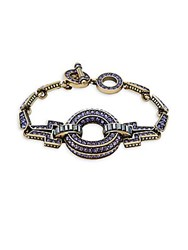 Heidi Daus Crystal Circle Toggle Bracelet No Color