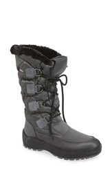 Pajar Women's 'Riga' Waterproof Ice Grippers Boot Charcoal Fabric