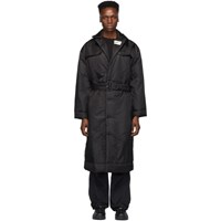 032C Black Cosmic Workshop Overcoat