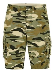 Selected Green Homme Camouflage Shorts