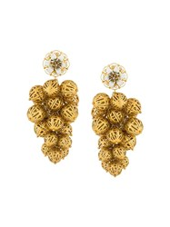 Dolce And Gabbana Sphere Cluster Clip On Earrings Metallic