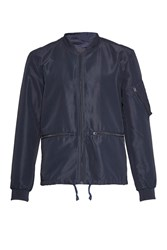 French Connection Men's Patiala Perforated Bomber Jacket Navy