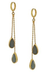 Women's Vince Camuto Jeweled Drop Earrings Gold Grey